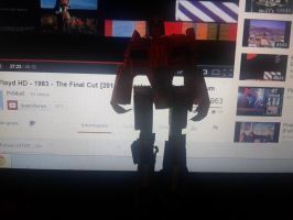 papercraft foc optimus builded by minibot-gears