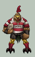RUGBY mascot by thenota