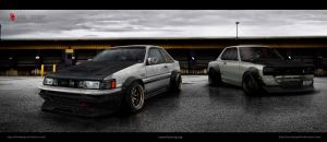 Toyota ae86 levin - Nissan kpgc10 by AeroDesign94