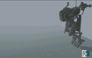 Sketchyphysics running mech animation WIP by raskayu77