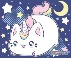 TPS: Meowchi 'Mewnicorn' Plush and Tee design by MoogleGurl