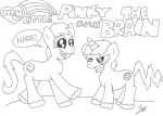 My Little Pinky and the Brain by ponderinginsanity