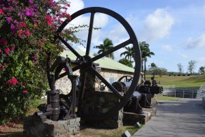 Old machine with wheel of Rum factory by A1Z2E3R