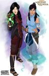 Korra And Asami by TheFireAngel