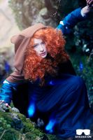 Merida cosplay - scaling by Hollitaima