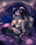 Sexy and innocent draenei girl / commission by ipheli