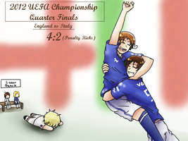 2012 UEFA European Match up: England vs Italy by Shewen