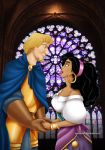 Esmeralda and Phoebus by Mareishon