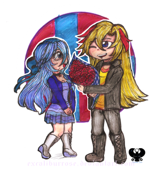 Comision: ZAC Y DAFNE by ExcaliburRose