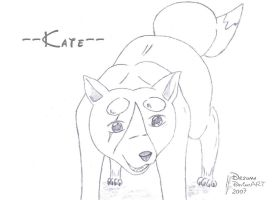 Kate2 Dog not colored by Drzuma