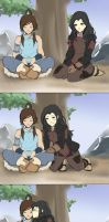 korrasami sneak kiss by blavk