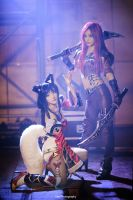 League of Legends - Ahri n Katarina by vaxzone