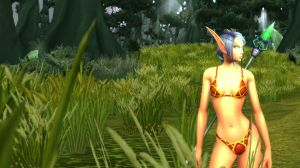 Blood Elf Female 279 - Terokkar Forest by solarnova1101