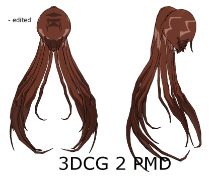 MMD : Open Long Ponytail Back Curled by Ayodan