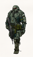 Sarcophagus Power Armor by Peepook