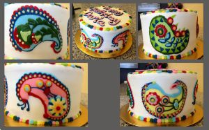 Paisley Cake by MooreCake