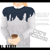 [MMD] Men's Sweater [Download Stuff] by Wt-Jok
