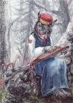 ACEO Kantele by Sysirauta