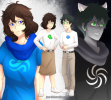 HS - Genderbend John and Jade by feshnie