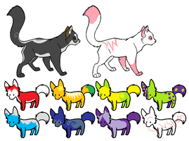 Cheap Wolf / Cat Adopts [ closed ] by opadopts