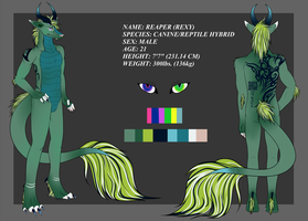 Reaper ref sheet by MinzyKat