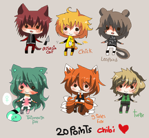 20 points- Chibi cute boys set 3 CLOSED by Ayuki-Shura-Nyan