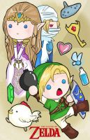 The chibi legend of Zelda by ruzovymonster