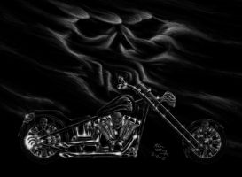 Skull Harley 2 Large by Mongloid