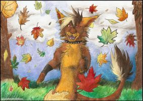 Autumn dance by FuzzyMaro