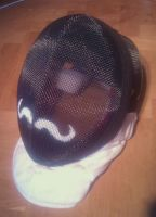 Fencing helmet mustasch by Markehed