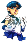 Commission - Sailor Mercury by Krooked-Glasses