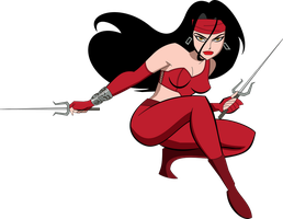 Ultimate Elektra (Bruce Timm) by MAD-54