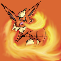 Flareon used Fire Spin by Gwayshi