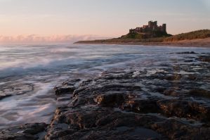 Bamburgh Castle at Dawn by Lazlowoodbine2010