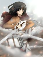 [SNK] Attack on Titan- Mikasa by KawaiiLilCupcake