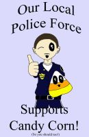 Policemen Support Candy Corn by Vampenxwitch