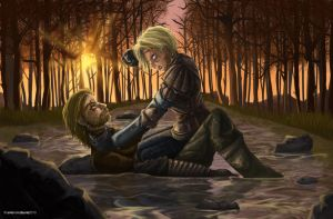 Jaime and Brienne: The Fight by SleepingAnto