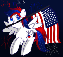 Happy 4th of July by Mysticvulpix