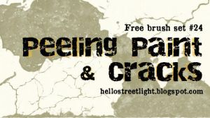 Free Brush Set 24: Peeling paint and cracks by tau-kast