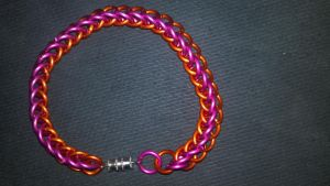 MLP Themed Scootaloo Chainmail Bracelet-1 by TheGiantsnoll