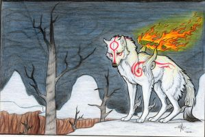 Okami Amaterasu Snow by MayhWolf