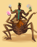 Anansi Spider God Of Tales by xAlalax