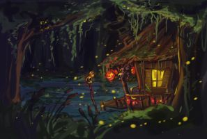Witch Doctor Swamp by MagicBunnyArt
