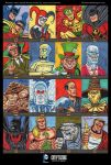 Batman: The Legend sketch cards for Cryptozoic by DeJarnette