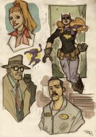 Batgirl-Gordon-Alfred Rockabilly by DenisM79