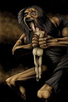 Saturn Devouring His Son by dmvcomics