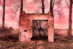 of Ruins and a Red Nightfall by Abrimaal