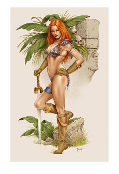Red Sonja Ruins by MitchFoust