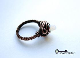 ring from copper and opalite 1 by honeypunk
