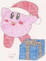 Christmas Kirby by N64chick